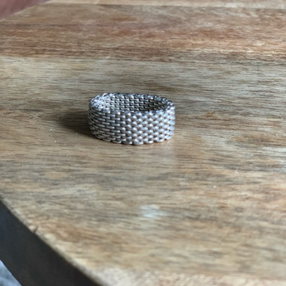 Tiffany & Co. Jewelry - Tiffany's 925 Sterling Silver Mesh Ring